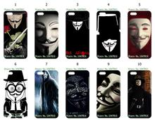 Mobile Phone Cases Wholesale 10pcs/lot Vendetta Anonymous Protective Plastic White Hard Case Cover For IPHONE 5C Free Shipping