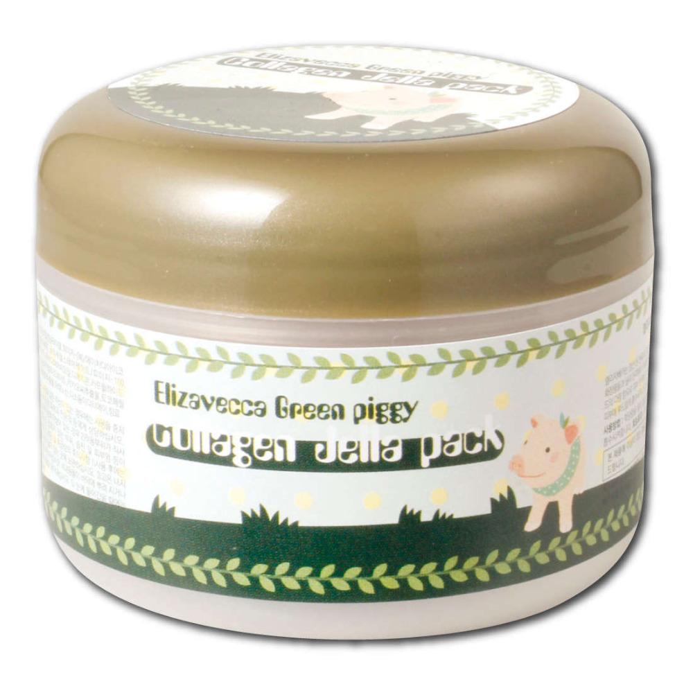 Косметическая маска для лица Green Piggy Jella 100 Collagen маска elizavecca gold cf nest collagen jella pack mask