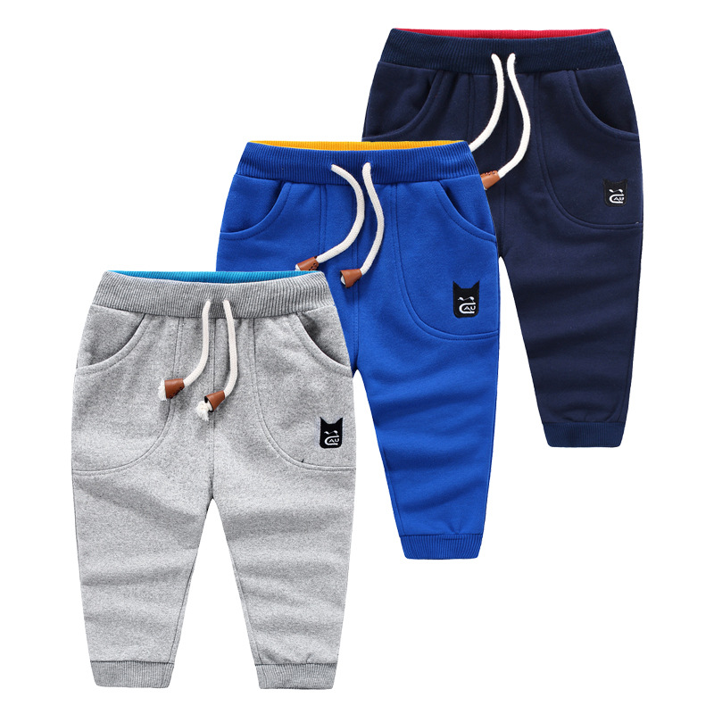 The new spring boy children cotton knitted terry sports pants trousers wholesale<br><br>Aliexpress