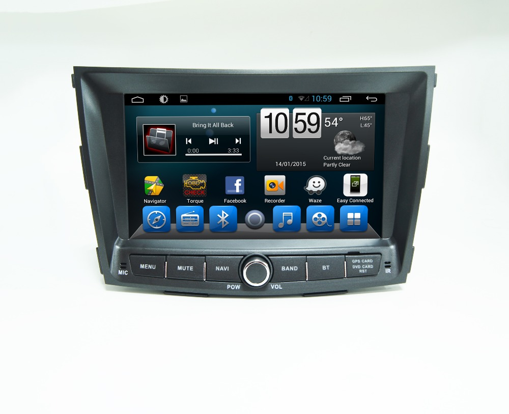 "8""1024*600 Android 4.4 Autoradio gps for Ssangyong Tivolan with radio BT SWC RDS OBD TPMS Mirrorlink hotspot Google play wifi(China (Mainland))"