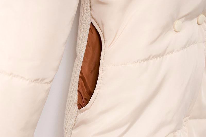 Скидки на Зима Женщины Wadded длинные Куртки 2016 Женщин Верхняя Одежда Переплетения Утолщение Вскользь Вниз Хлопка Ватные Пальто Женщин Парки