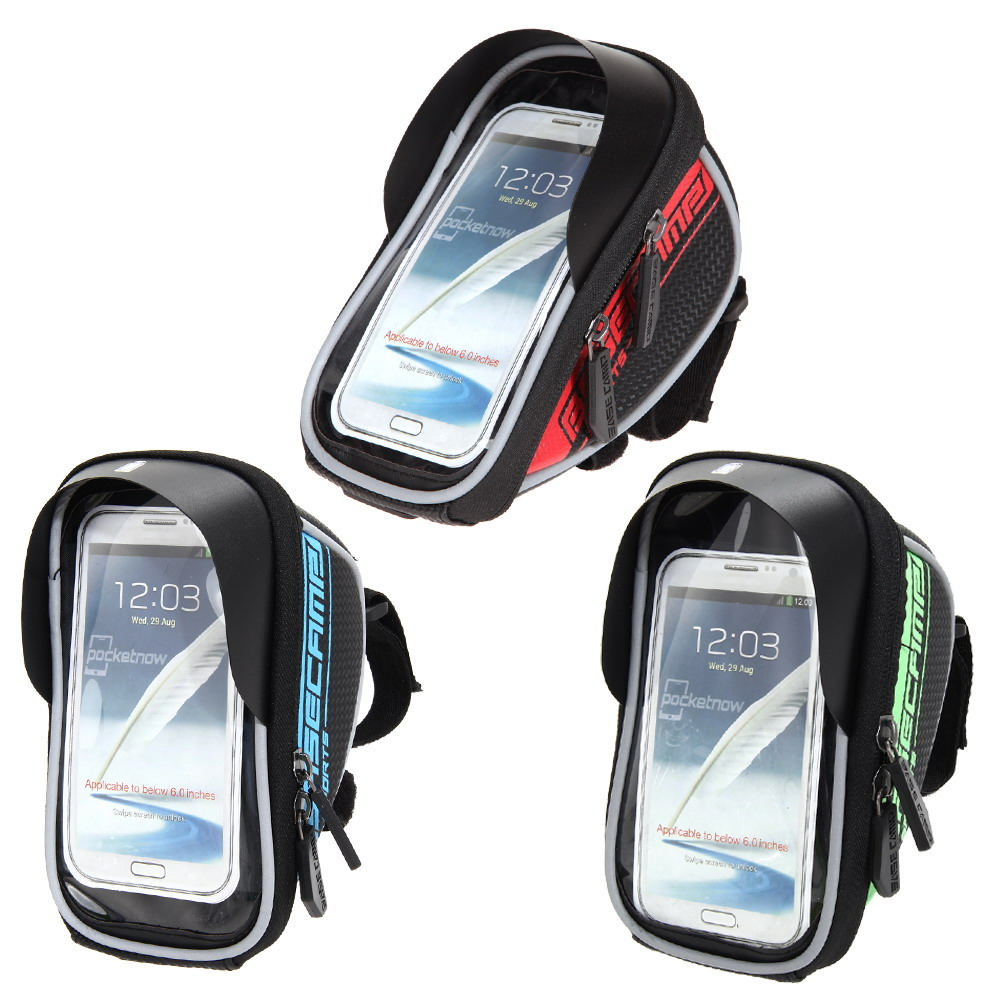 """BaseCamp Waterproof Mountain Road MTB Bike Bicycle Front Top Frame Handlebar Bag Cycling Pouch Touchable For 4-5.5"""" Mobile Phone(China (Mainland))"""