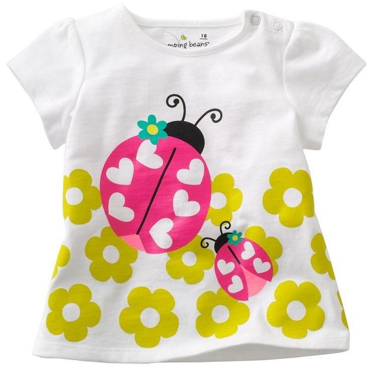 girls t-shirts boys tees shirts baby tshirt tops short sleeve cotton girls clothes kids singlets toddler jersey tops M1590(China (Mainland))
