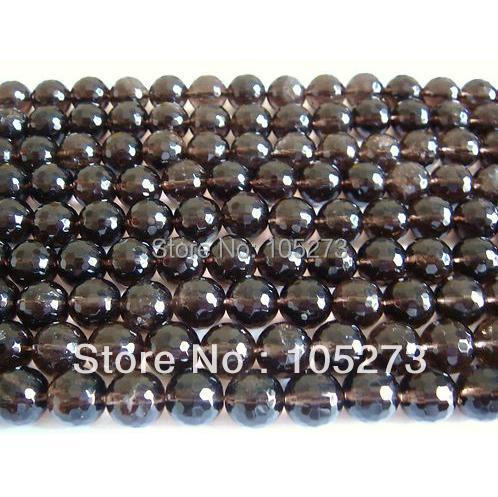 New Arriver Fashion Quartz Jewelry 8MM Faceted Round Shaper Smoky Quartz 15/String Loose Beads Hot Sale New Free Shipping<br><br>Aliexpress
