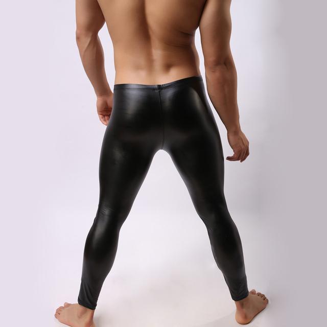 C48 бренд мужской сексуальное кожаные брюки колготки бодибилдинг экзотические брюки ...