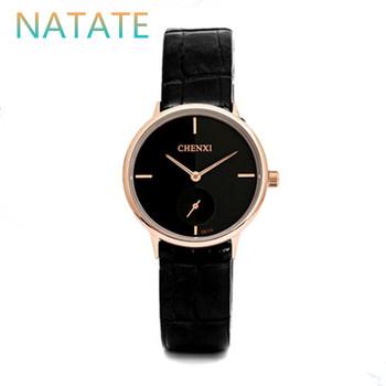 NATATE Women Luxury Brand chenxi Business Watch Outdoor Sports Watches Fashion Dress Leather strap Waterproof Wristwatches 1040