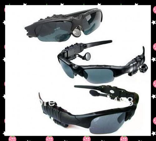 Sunglasses Mp3 Player with Bluetooth - Sunglass 4GB Headset black +fast shipping ,50pcs /lot(China (Mainland))
