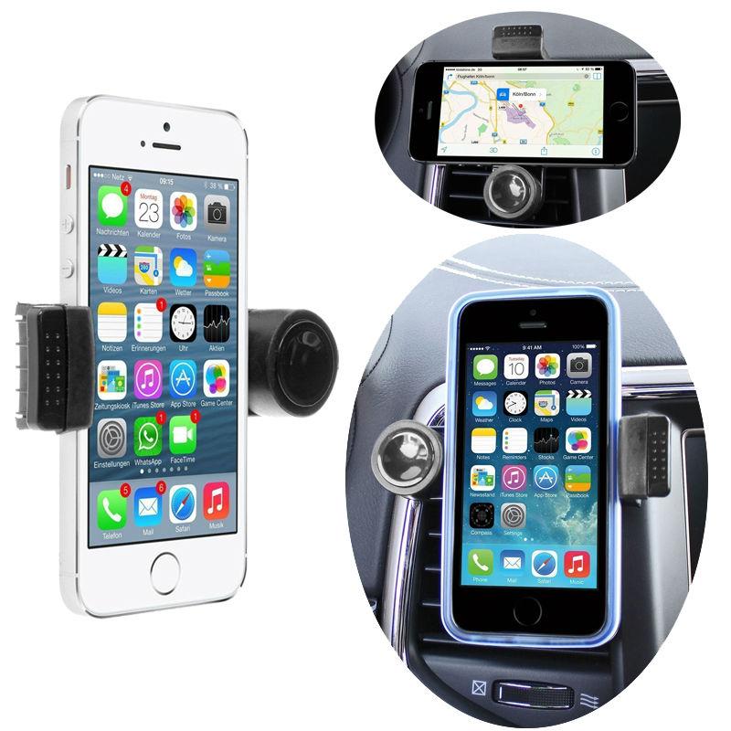 360 Degree Portable Car Air Vent Holder for Apple iPhone 7 6S/6 Plus 6S/6 6C 7C SE 5S 5C 5 4S 3Gs 3 Phone Car Trestle(China (Mainland))