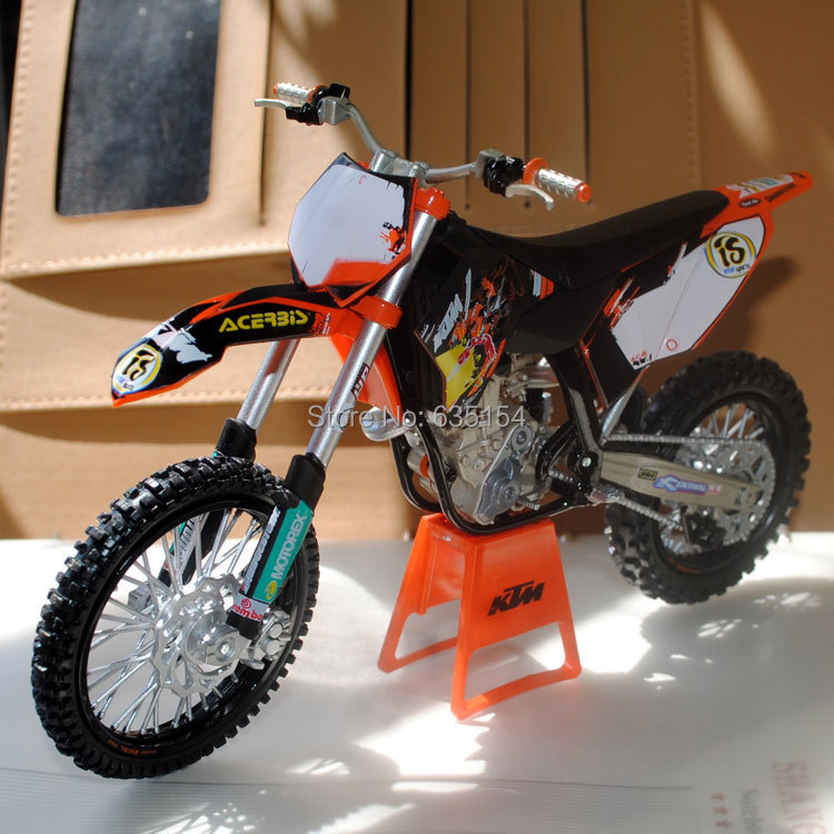 Brand New 1/12 Scale Motorcycle Model Toys KTM 450 SX-F09 Mountain Motorbike Diecast Metal Motorcycle Model Toy For Gift/Kids(China (Mainland))