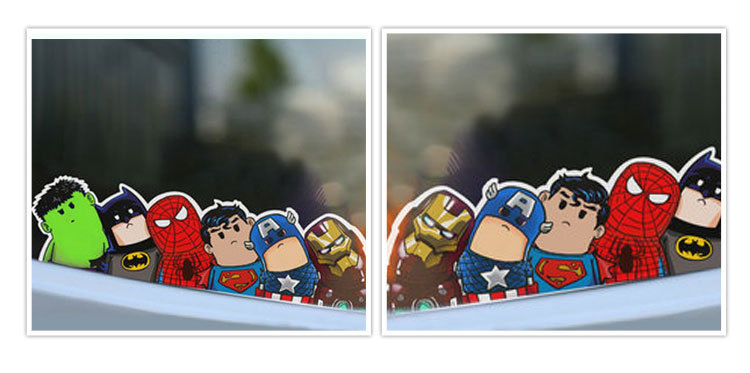Newly Arrival Fashion Car Styling Decor Cartoon Avengers Reflective Decorative Art Car Stickers CAR 0075