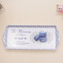 One piece rectangle melamine serving tea plate12 inch tray tableware for household(China (Mainland))