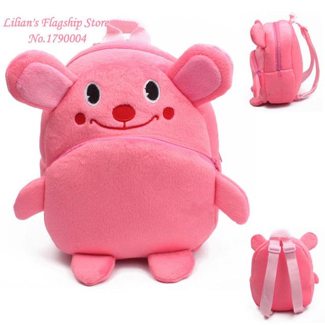 2016 новый термин маленький кролик плюшевые мультфильм игрушки рюкзак дети характер мешок подарок для детей Mochila Infantil горячая распродажа
