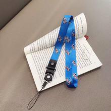 Аниме шнурок для ключей мобильный телефон ремень 2в1 Fing хомут для шеи ремень ID карты телефон ремень USB бейдж держатель повесить брелок для кл...(China)
