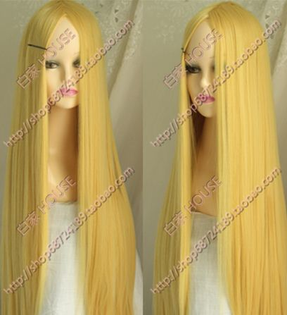 Free delivery of high quality 100 cm long straight hair   gold thickening long straight hair bangs , small cos wig fringe 80cm<br><br>Aliexpress