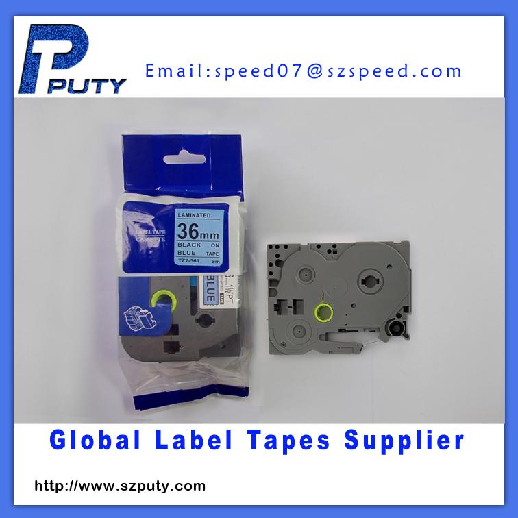 36mm black on blue tz label tape tz-561<br><br>Aliexpress