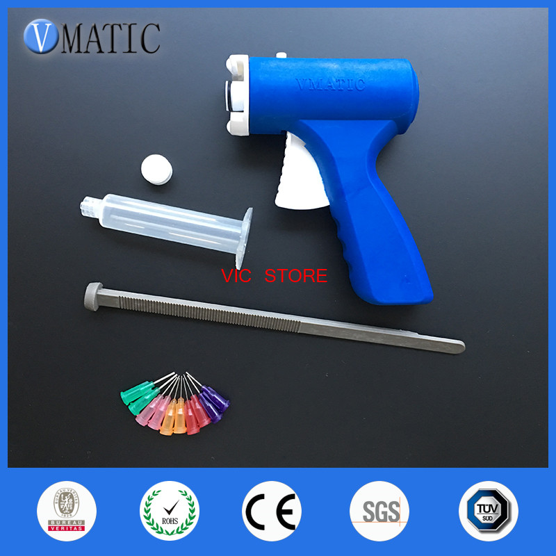 New 10ML manual syringe gun single liquid glue gun 10CC Common 1PCS + 10CC cones 1PCS+ Dispensing Tips