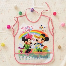 Mickey Mouse Baby Bibs EVA Waterproof Lunch Bibs Boys Girls Infants Cartoon Pattern Burp Cloths For Children Self Feeding Care