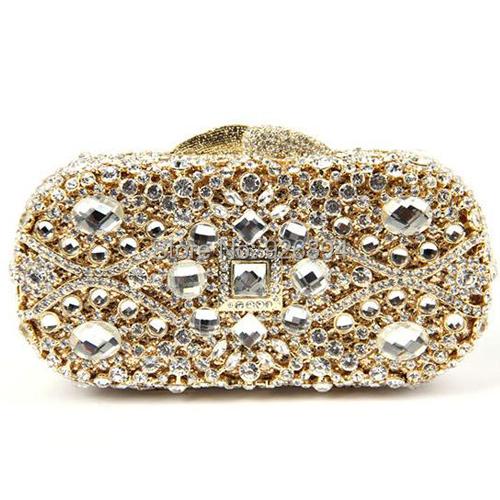 Luxury high quality diamond shining hollow crystal elegant wedding party mini purse ladies clutch evening bag shoulder bag<br><br>Aliexpress
