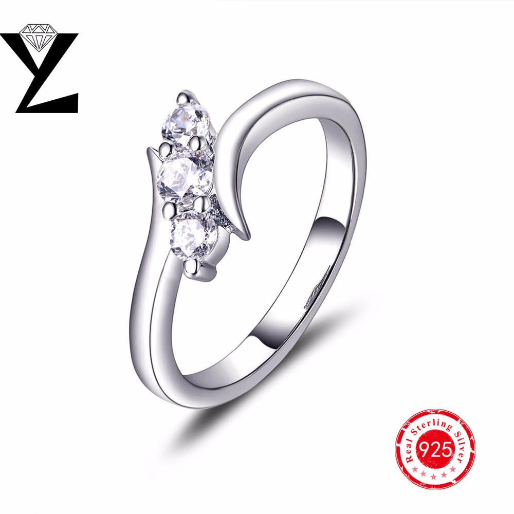 2016 New Arrival 925 sterling silver rings classic love engagement wedding women jewelry making(China (Mainland))