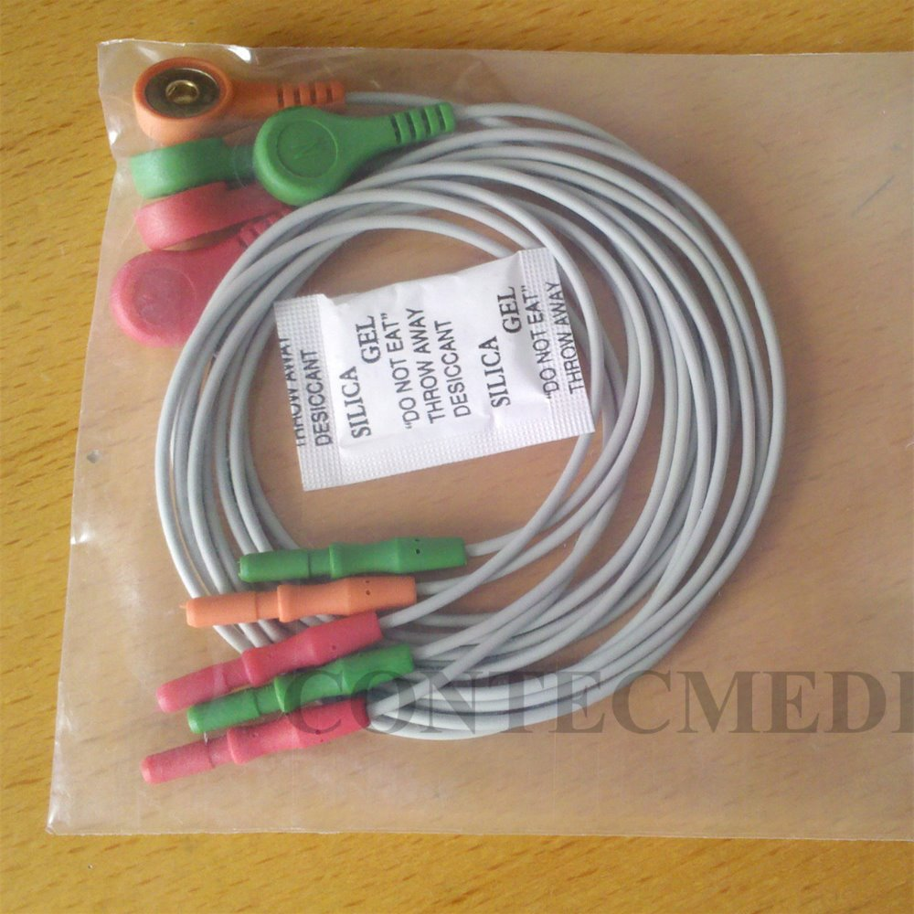 ECG Cable ECG lead of CONTEC TLC9803 3-Channel ECG Holter Monitoring Recorder System