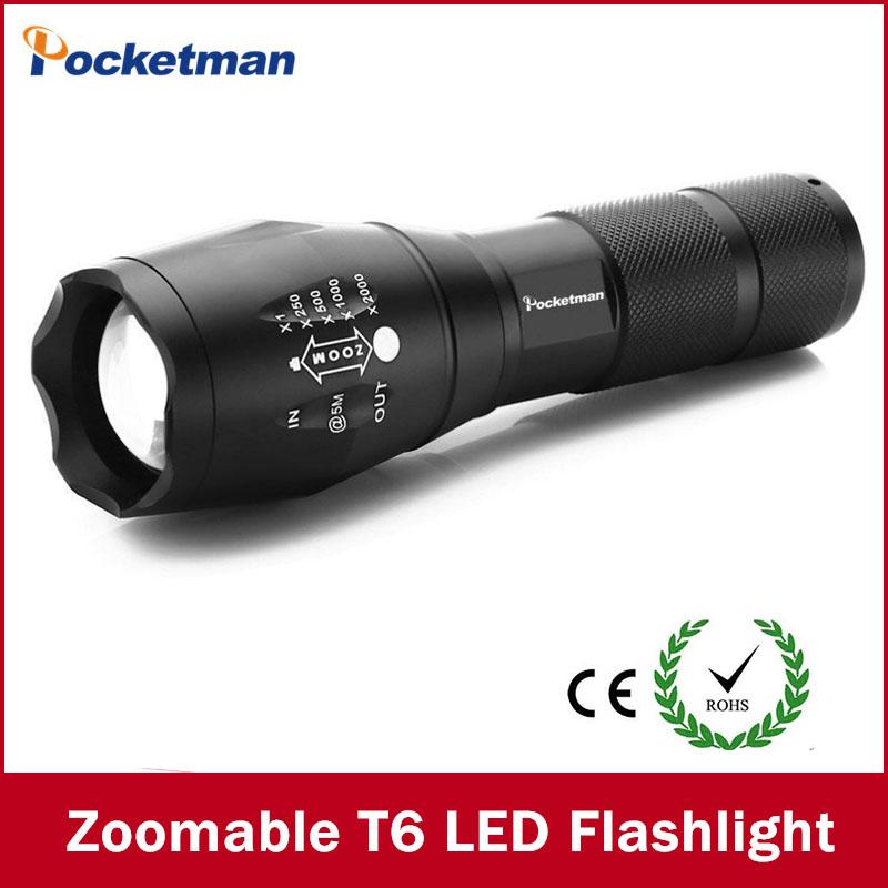 LED Flashlight 3800 Lumnes CREE XM-L T6 LED Tactical Flashlight Torch Zoomable Flashlight Torch Lanternas Gladiator Flashlight(China (Mainland))