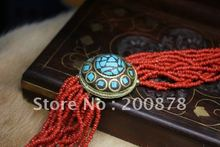 BB-165  Tibetan mini red coral beaded bracelets,Nepal brass charms Antiqued Vintage jewelry bangles,mix order(China (Mainland))