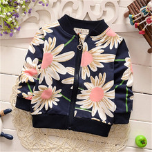Sweet Baby Girls Candy Color Casual Outerwear Kids Infants Long Sleeve Coat Cardigan Jacket Child Clothing Princess Wear Flower