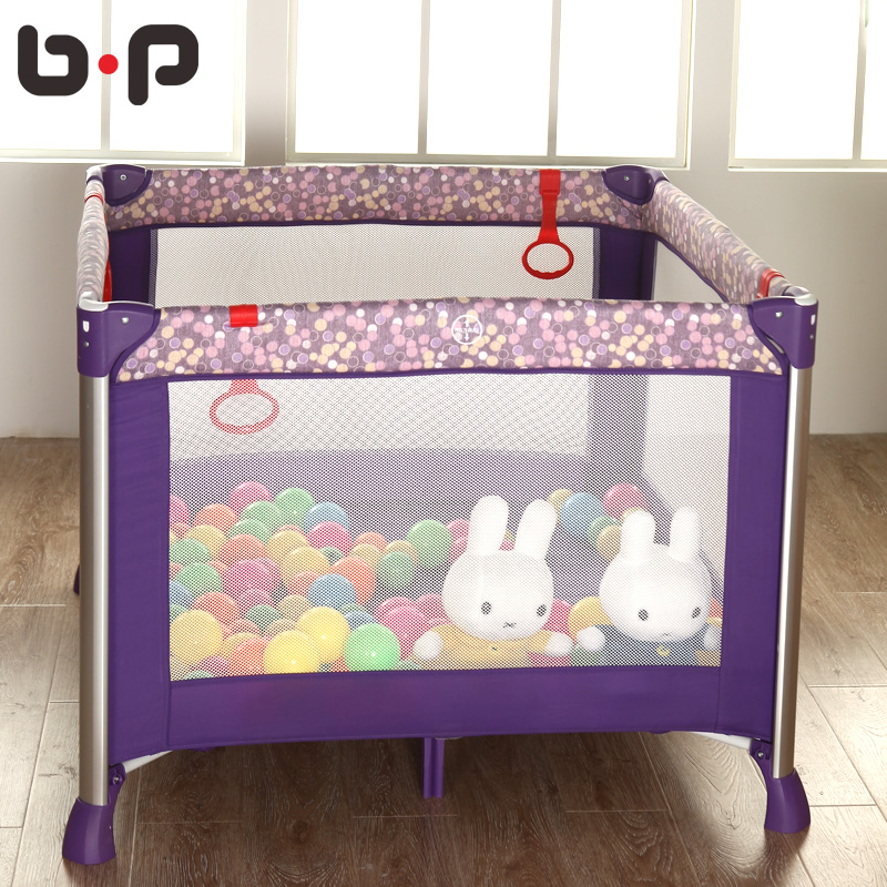 Bp high quality aluminum alloy folding multifunctional baby bed fence portable game bed bb bed fashion oversized elysium<br>