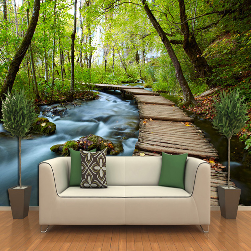 3d three dimensional wallpaper landscape wallpaper murals for Wall to wall wallpaper