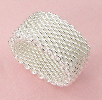 S08 promotion silver mesh ring fashion jewelry - Better & More store