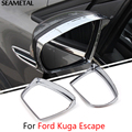 For Ford Kuga Escape 2013 2014 2015 2016 Car Rearview Mirror Rain Eyebrow Cover Stickers Decoration