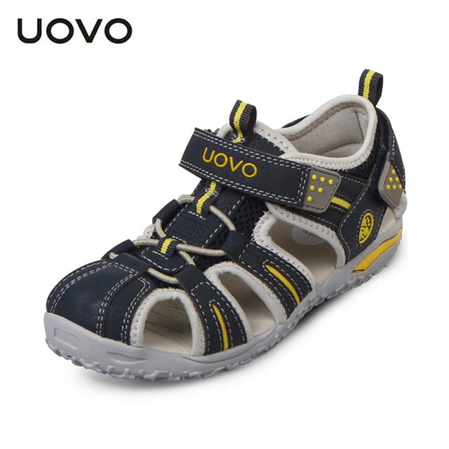 UOVO марка 2015 лето пляж детская обувь закрыты носок сандалии для мальчиков и девочек ...