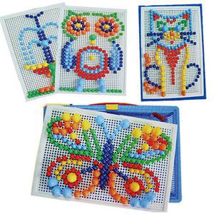 2014 New BR Hot Selling Creative Kids Children Nail Composite Picture Puzzle Greative Mosaic Kit Puzzle Toy RB(China (Mainland))