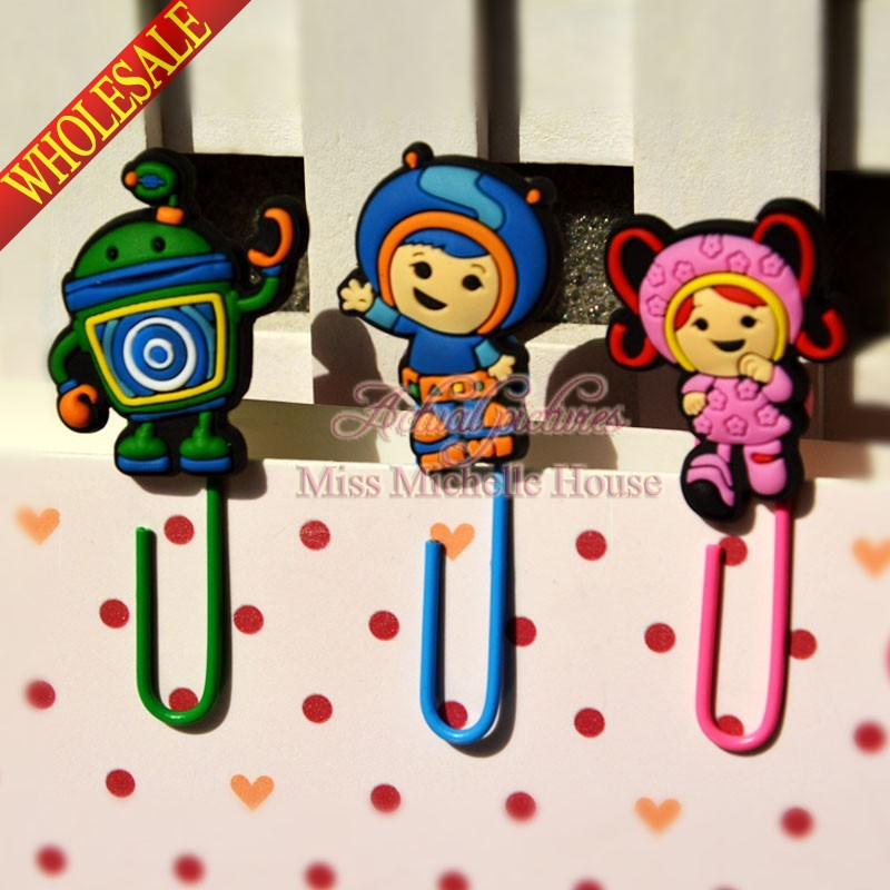 3PCS Team Umizoomi Paper Clip Bookmark Promotional Jewelry Findings For Kid Party Gifts(China (Mainland))
