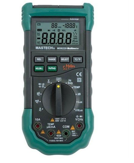 Mastech MS8229 5 IN 1 AUTORANGE DIGITAL MULTIMETER WITH ALARM<br><br>Aliexpress