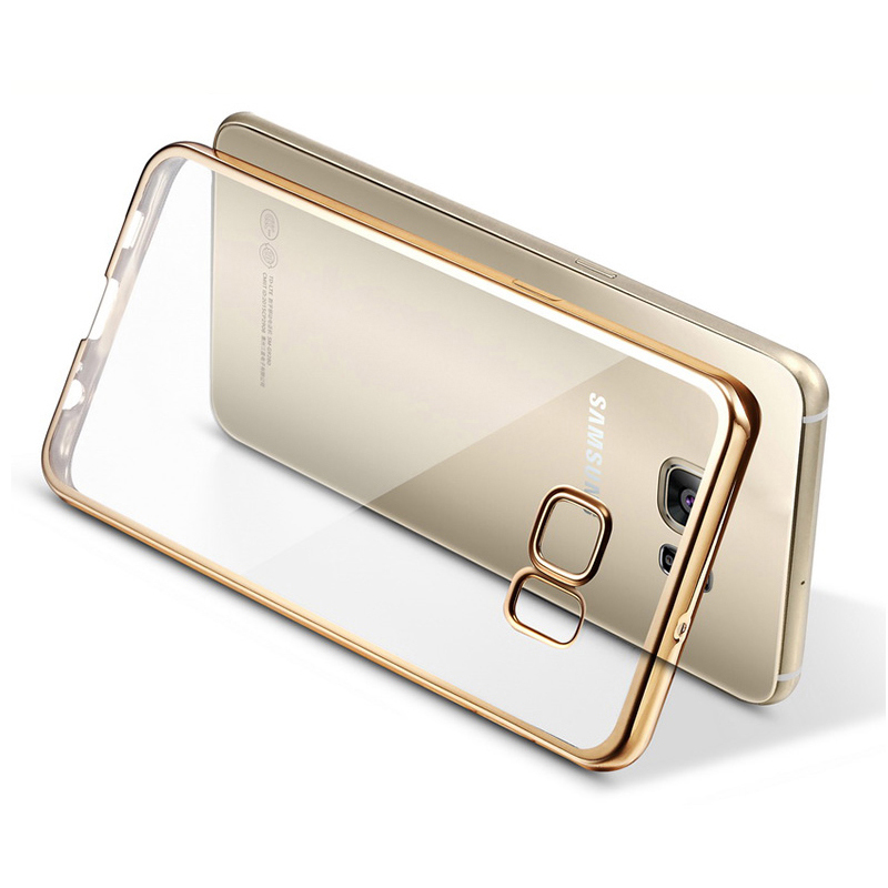 Case For Samsung Galaxy S7 S7 Edge Royal Luxury style Plating Gilded TPU Phone silicone soft Back Case Cover For Samsung S7edge(China (Mainland))