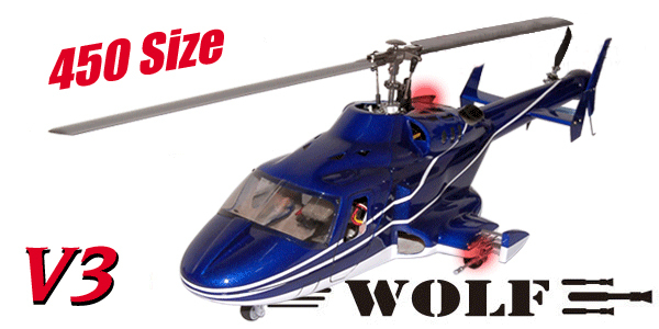 Bell 222 helicopter W/retracts airwolf 450 V3 Blue&White similar as heliartist airwolf 450 fuselage wholesale(China (Mainland))