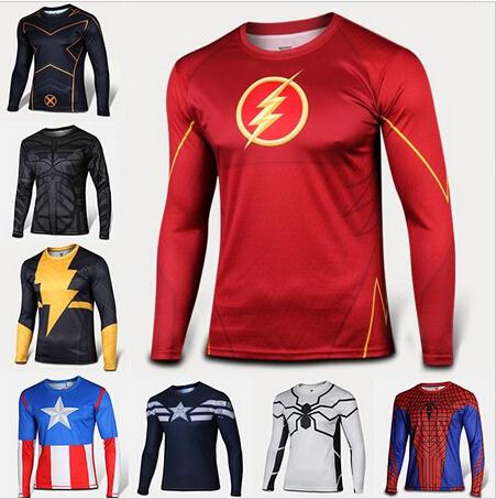 2015 Sale Bape Fashion T-shirt Men Women Clothing Plus Size Long Sleeve Brand Superman Spiderman Venom Captain Tee Tops Tshirt(China (Mainland))