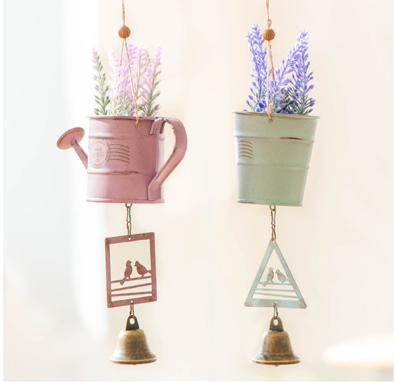 [Simple life]Potted wind chime decoration gift ideas home crafts shop door hangings