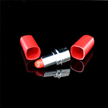1 pcs lipstick shape pill bottle snuff snorter(China (Mainland))
