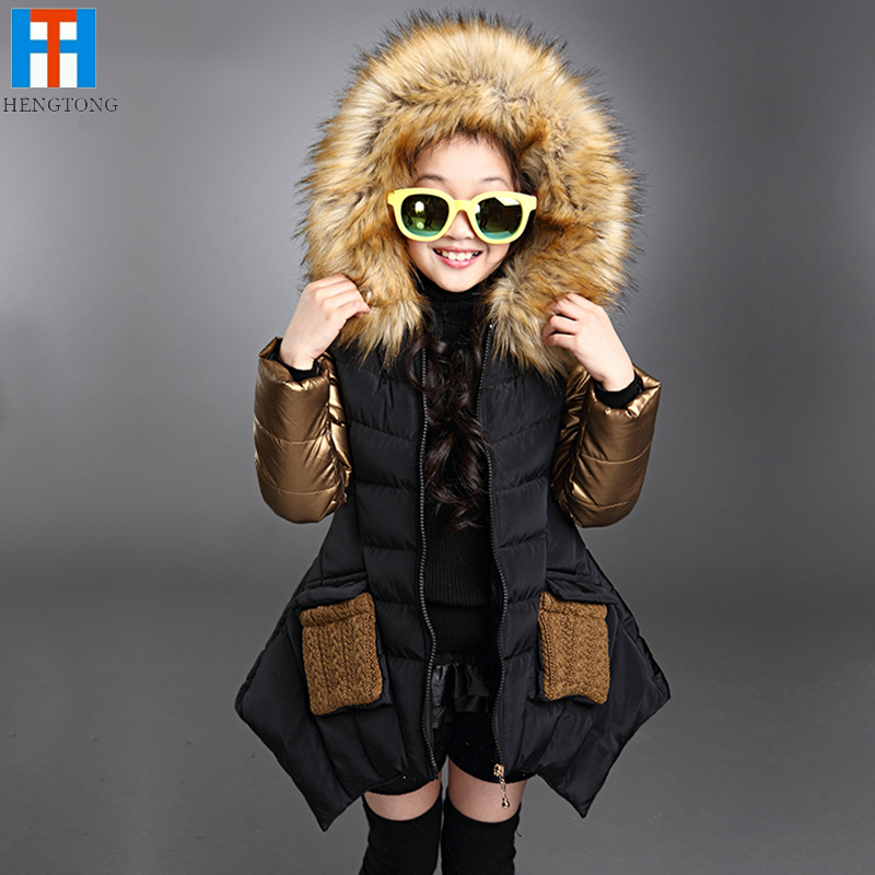 2015 Fashion parkas girl clothing brand kids clothes winter children outerwear coats princess girls jacket children's wear(China (Mainland))