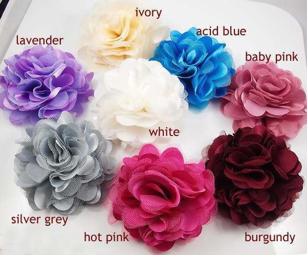 2Pcs Silk Flower Brooch Pins Hair Flower Clips Accessory New Free Shipping(China (Mainland))
