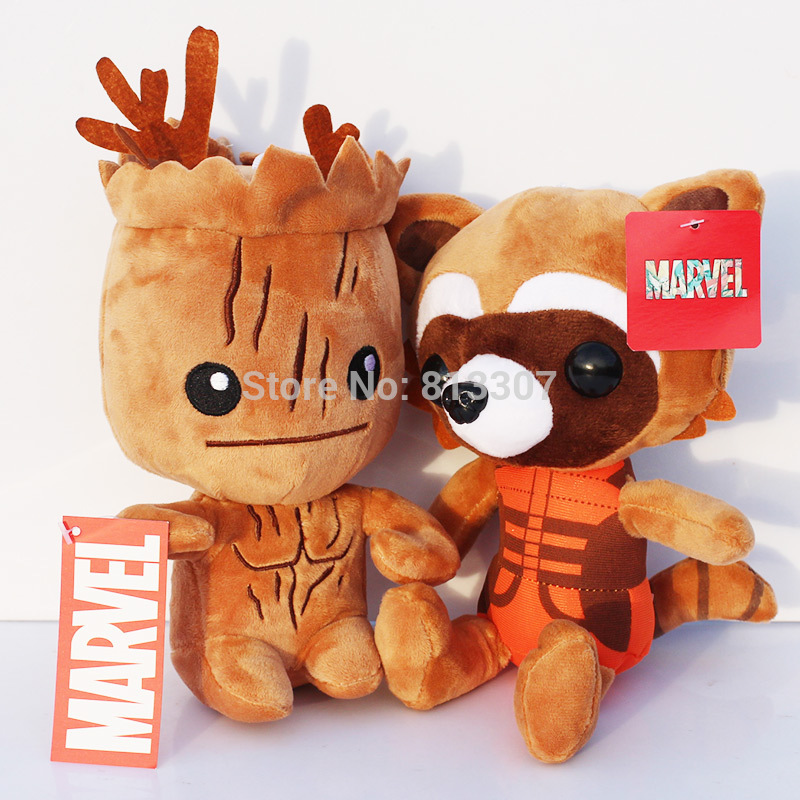 10pcs/lot 20CM Marvel Guardians of the Galaxy Plush Toy Rocket Raccoon Stuffed Doll Good Gift For Kids Free Shipping<br><br>Aliexpress