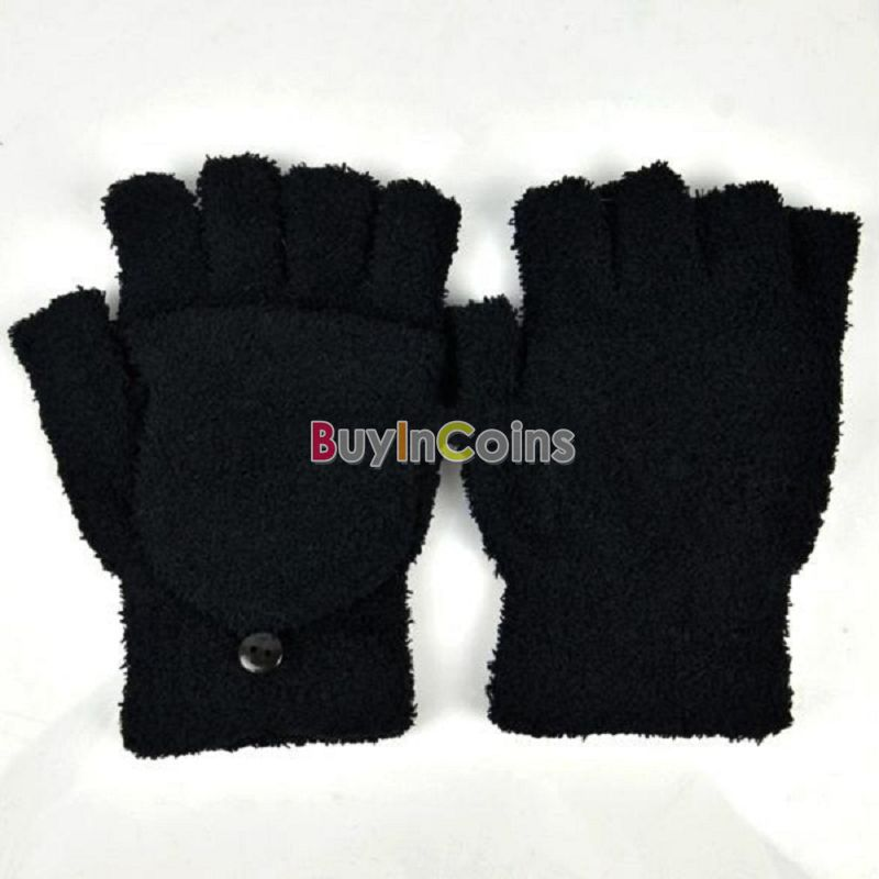 Hot Fashion Women's Ladies Motorcycle Hand Wrist Warmer Winter Fingerless Gloves US AS #49153(China (Mainland))