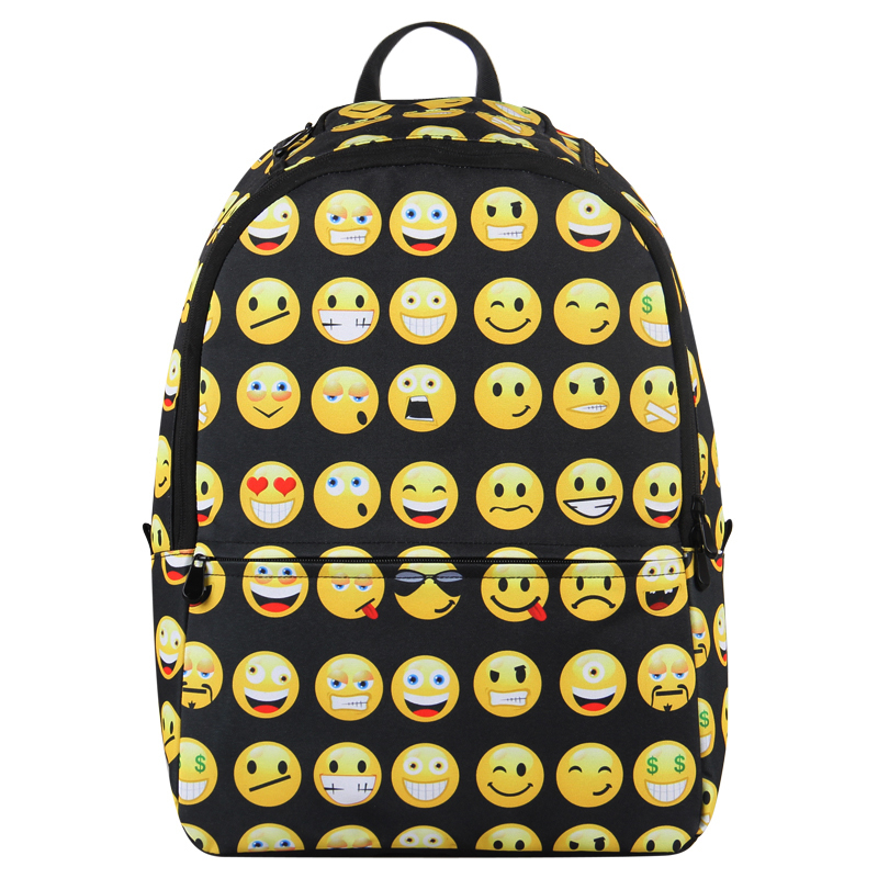 VN Cool Smile Bag Men Backpacks Travel Bags Fashion Women Backpacks Girls School Backpack Child Casual Printed Bag Daypacks(China (Mainland))