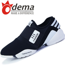 New Style Casual Men Sneakers Top PU Leather Sport Shoes Men's Slip-on Pointed Flats Running Shoes 39-44