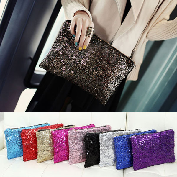 Retro Luxury Sequins Hand Bag Taking Late Package Clutch Bag Sparkling Dazzling Sequins Clutch Bags Purse Handbag Evenin BS88(China (Mainland))