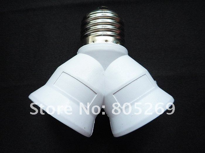 10pc high quality e27 to 2 e27 led cfl light bulb lamp. Black Bedroom Furniture Sets. Home Design Ideas