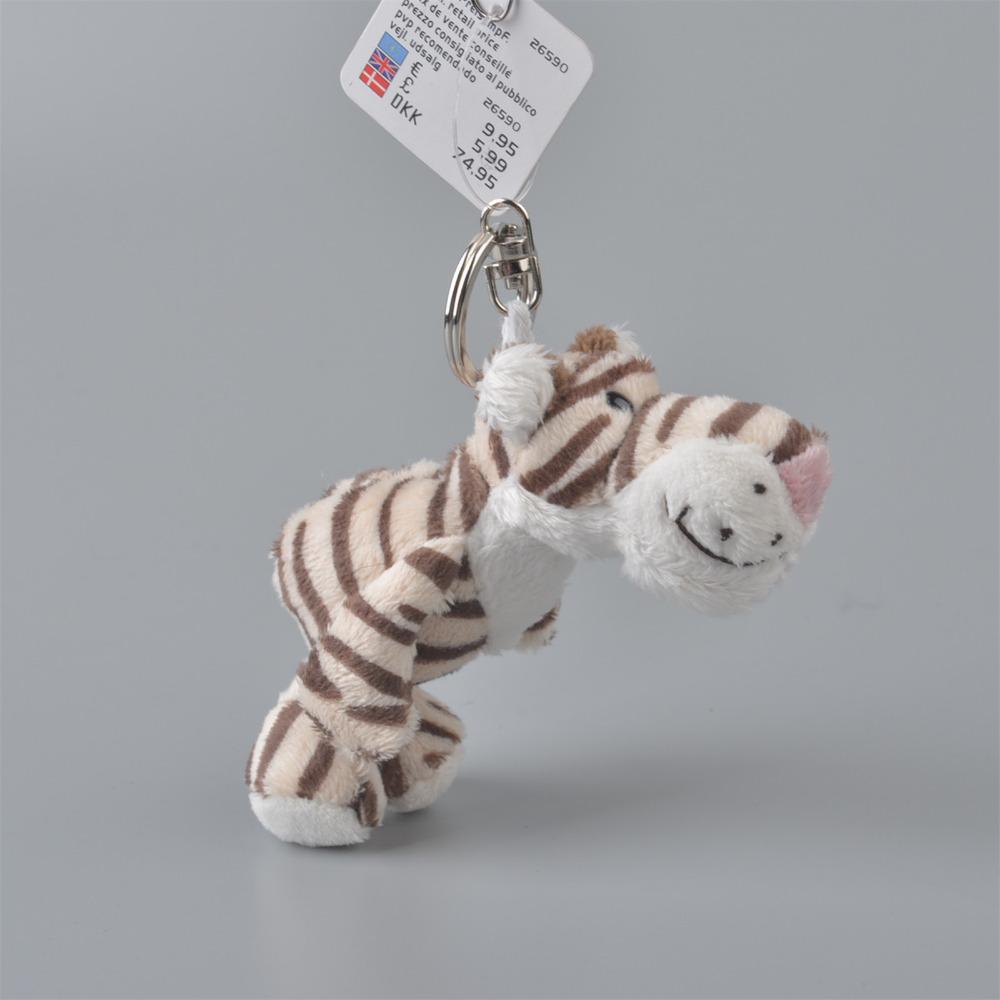 Forest Tiger Pendant Stuffed Plush Keyring, 5 Pcs Key holder / Keychain Gift Free Shipping(China (Mainland))