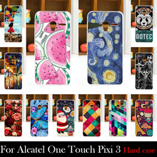 For Alcatel One Touch Pixi 3 4.5 inch 4027X 4027D Case Hard Plastic Mobile Phone Cover Case DIY Color Paitn Cellphone Bag Shell